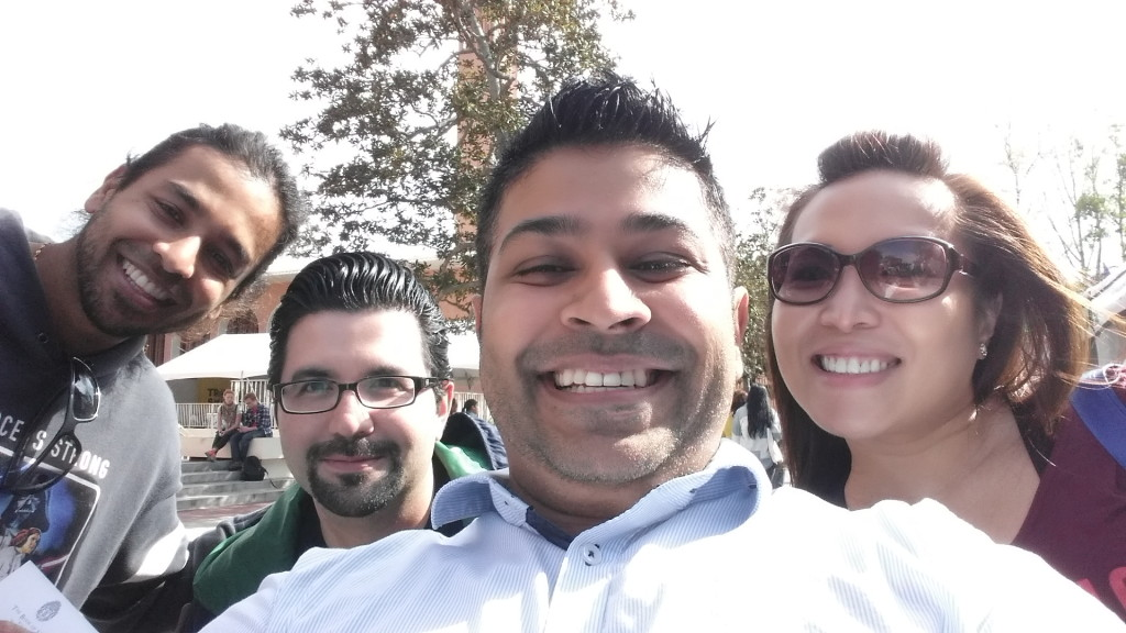 Author Nick Sharma and some friends appear at LA Festival of Books in Los Angeles