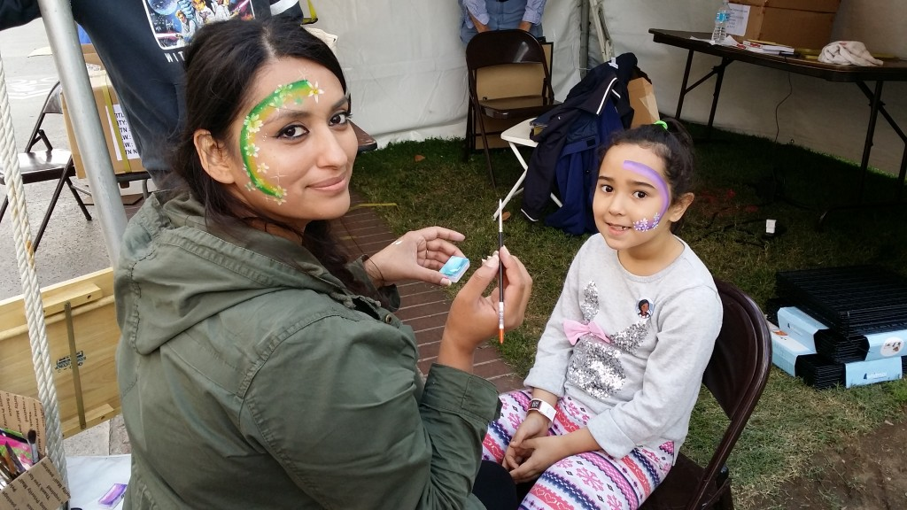 Karina Ramirez paints faces at LA Festival of Books